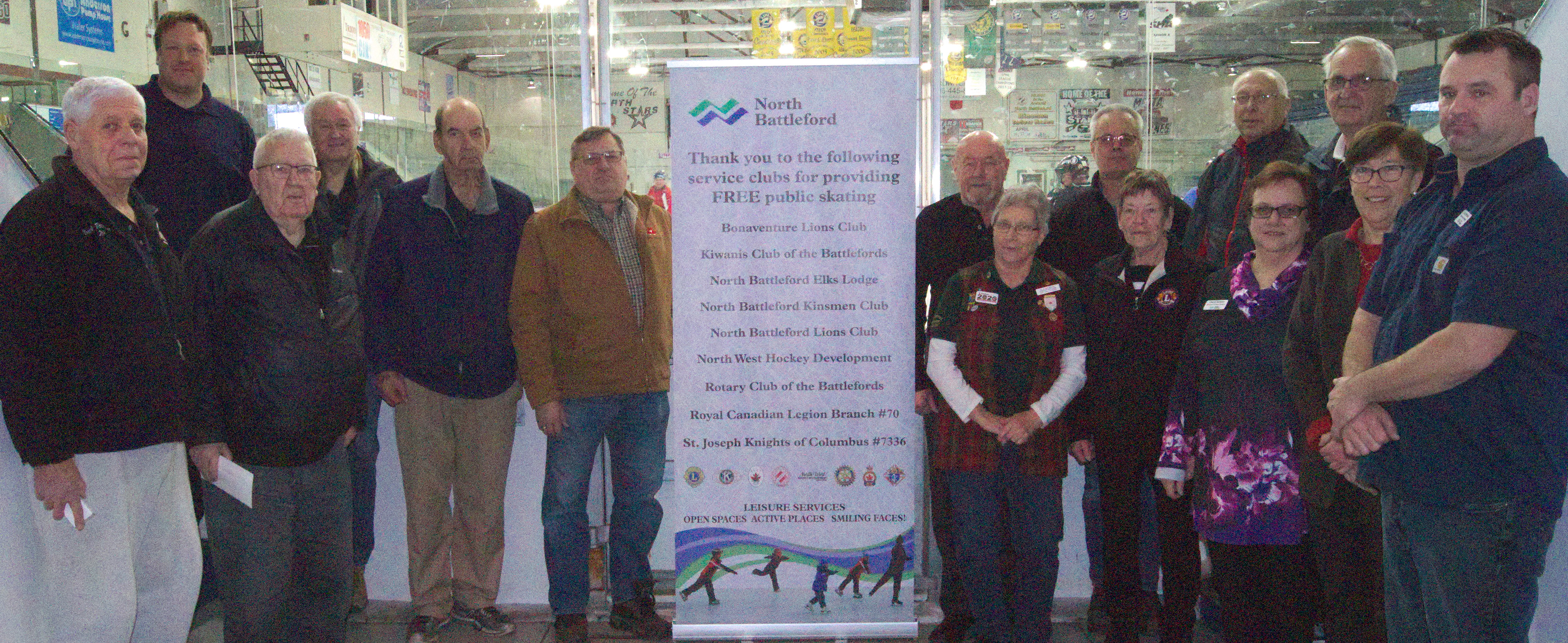 The City of North Battleford acknowledges the contribution of Service Clubs that make free public skating possible.